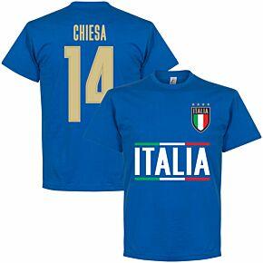 Italy Chiesa 14 Team T-shirt - Royal