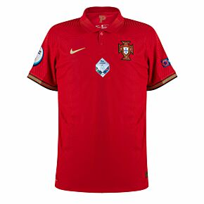 20-21 Portugal Vapor Match Home Shirt + Euro Winners Patches