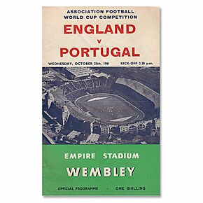 England vs Portugal World Cup Qualifier at Wembley Stadium - Oct. 25, 1961