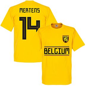 Belgium Mertens 14 Team Tee- Yellow