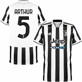 21-22 Juventus Home Shirt + Arthur 5 (Official Printing)