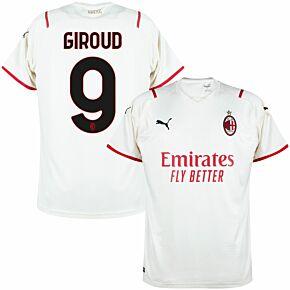 21-22 AC Milan Away Shirt + Giroud 9 (Official Printing)