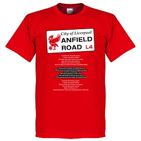 Anfield Road Tee - Red
