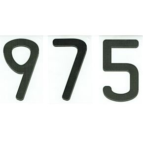 09-11 adidas Front Number - Black