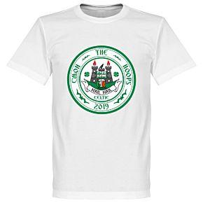 C'mon the Hoops Celtic Crest Tee - White