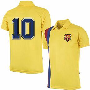 81-82 Barcelona Away Retro Shirt + No.10 (Retro Flock Printing)