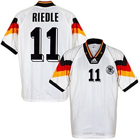 adidas Germany 1992-1994 Home Riedle 11 Jersey - USED Condition (Great) - Size S