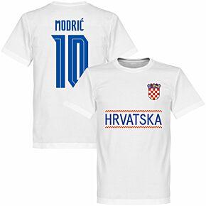 Croatia Modric 10 Team KIDS T-shirt - White
