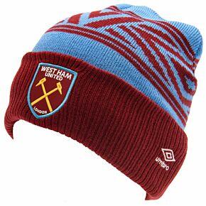 West Ham Shatterd Diamond Cuff Beanie Hat