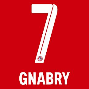 Gnabry 7 (Official Printing) - 21-22 Bayern Munich Home