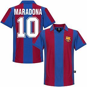 80-81 Barcelona Home Retro Shirt + Maradona 10