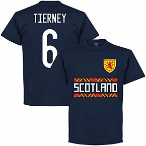 Scotland Tierney 6 Team T-shirt - Navy
