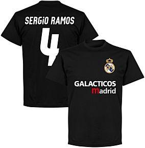 Galácticos Madrid Sergio Ramos 4 Team T-shirt - Black