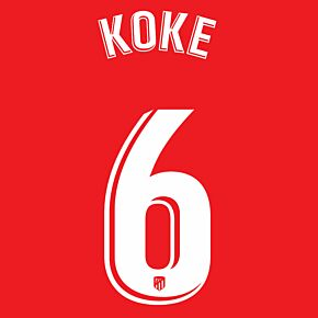 Koke 6 (Official Printing) - 20-21 Atletico Madrid Home