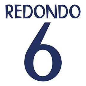Redondo 6 - Real Madrid Home 1998-1999 Replica Flex Printing