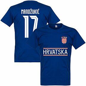 Croatia Mandzukic 17 Team T-shirt - Ultramarine