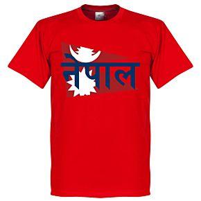 Nepal Flag Tee - Red
