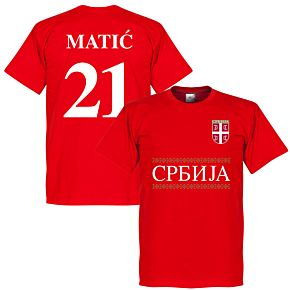Serbia Matic 21 Team Tee - Red