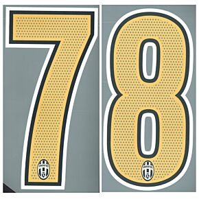 Back Numbers (250mm) - 04-06 Juventus Home Official Numbers