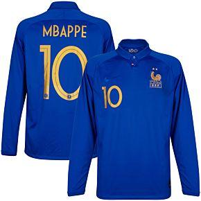 Nike France Centennial 1919-2019 L/S Mbappe 10 Jersey (Official Centennial Printing)