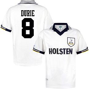 1994 Tottenham Home Retro Shirt + Durie 8 (Retro Flock Printing)