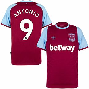 20-21 West Ham Home Shirt + Antonio 9 (Premier League Printing)