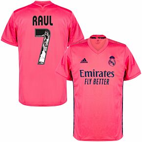 20-21 Real Madrid Away Shirt + Raul 7 (Gallery Printing)