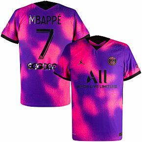 2021 PSG Vapor Match 4th Shirt + Mbappè 7 (Official Printing)