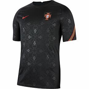 20-21 Portugal Breathe PreMatch S/S Top - Black/Red