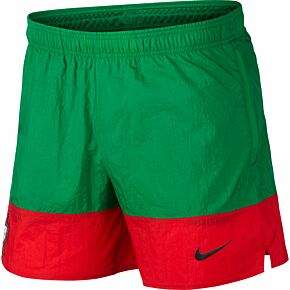 20-21 Portugal Woven Shorts - Green/Red