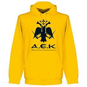 AEK Athens Emblem Hoodie - Yellow