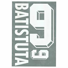 Batistuta 9 - 1998 Argentina Away Flock Name and Number