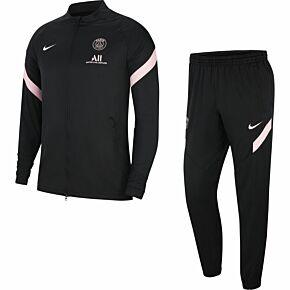 21-22 PSG Strike Tracksuit - Black/Pink
