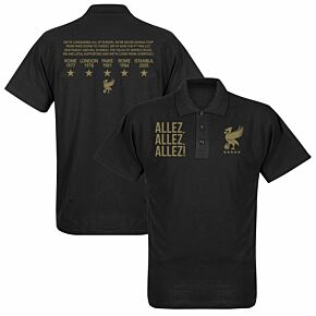 Liverpool Allez Allez Allez Polo Shirt - Black