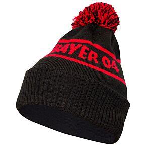 20-21 Bayer Leverkusen Pom Beanie Hat - Black/Red