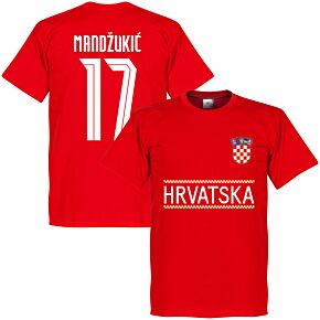 Croatia Mandzukic 17 Team T-shirt - Red
