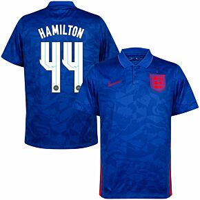 20-21 England Away Shirt + Hamilton 44 (x7 Printing)