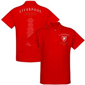 Liverpool Crest Champions of Europe Squad Polo Shirt - Red