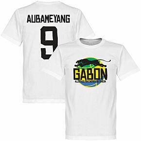 Gabon Logo Aubameyang Tee - White