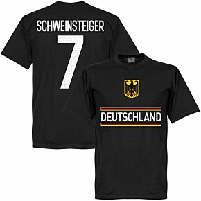 Germany Schweinsteiger 7 Team T-Shirt - Black