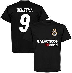 Galácticos Madrid Benzema 9 Team T-shirt - Black