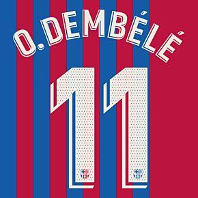 O.Dembélé 11 (Official Printing) - 21-22 Barcelona Home