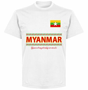 Myanmar Team T-shirt - White
