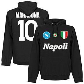 Napoli Maradona 10 Team Hoodie  - Black