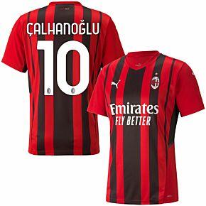 21-22 AC Milan Home Shirt + Çalhanoğlu 10 (Official Printing)