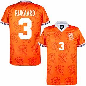 1994 Holland Home Retro Shirt + Rijkaard 3 (Retro Flock Printing)