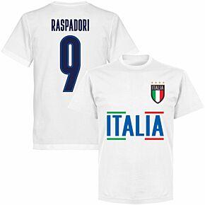 Italy Raspadori 9 Team KIDS T-shirt - White