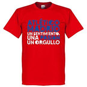 Atlético Motto Tee - Red