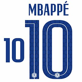 Mbappé 10 (Official Printing) - 20-21 France Away