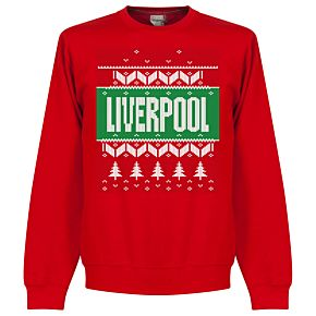 Liverpool Christmas Sweatshirt - Red